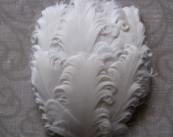 Feather Pad -1 White Curled Goose Nagorie Pad