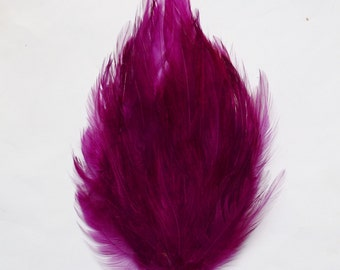 Berry Purple Eggplant Hackle Feather Pad