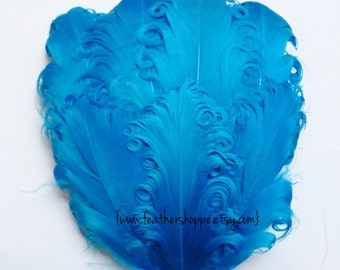 Nagorie Feather Pad - 1 Turquoise Curled Goose Pad
