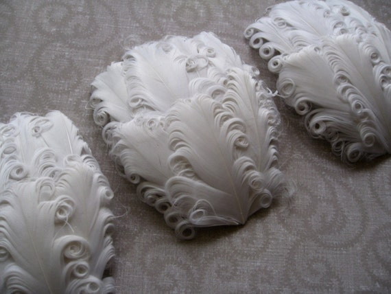 CLEARANCE - Imperfect White Feather Pads