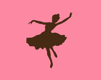 Ballerina Silhouette Stamp   Rubber Stamp   Craft Stamp   A73