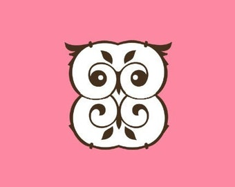 Fancy Owl Stamp   Rubber Stamp   Craft Stamp   A34
