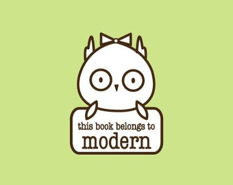 Custom Rubber Stamp   Custom Stamp   Personalized Stamp   Teacher Gifts   This book belongs to Stamp   Owl Stamp   C367