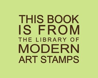 Custom Rubber Stamp   Custom Stamp   Personalized Stamp   Teacher Gifts   From the library of Stamp   This book belongs to Stamp   C431
