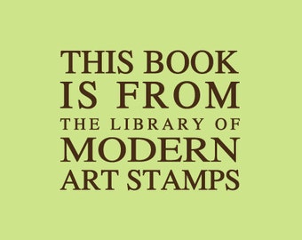 Custom Rubber Stamp - Custom Stamp - Personalized Stamp - Teacher Gifts - From the library of Stamp - This book belongs to Stamp - C433