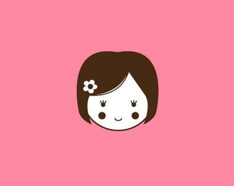 Doll Stamp   Rubber Stamp   Craft Stamp   A56