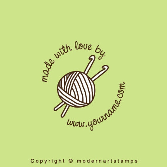 Custom Rubber Stamp   Custom Stamp   Personalized Stamp   Made with Love Stamp   Yarn Stamp   Crochet Stamp   Knit Stamp   Handmade by  C409