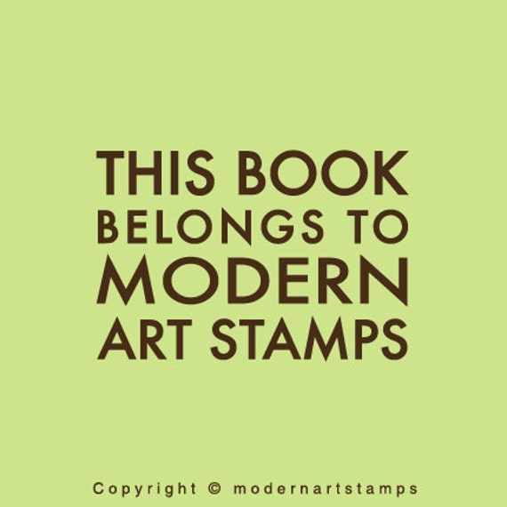 Custom Rubber Stamp   Custom Stamp   Personalized Stamp   Teacher Gifts   This Book Belongs to Stamp    From the Library of Stamp   C432
