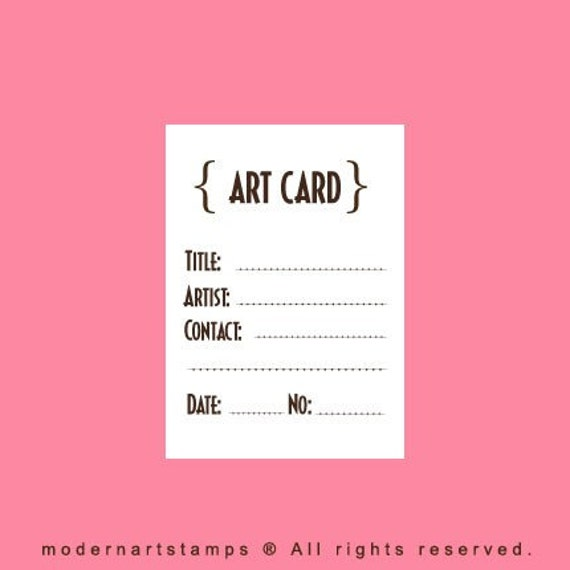 ATC or ACEO Card Stamp   Rubber Stamp   Craft Stamp   A41