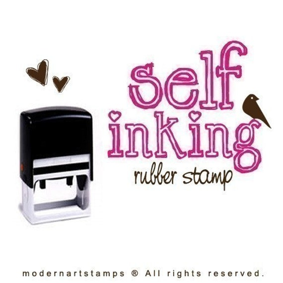 Design Your Own Rubber Stamp: Custom SELF INKING Rubber Stamp Your OWN Design Or OUR