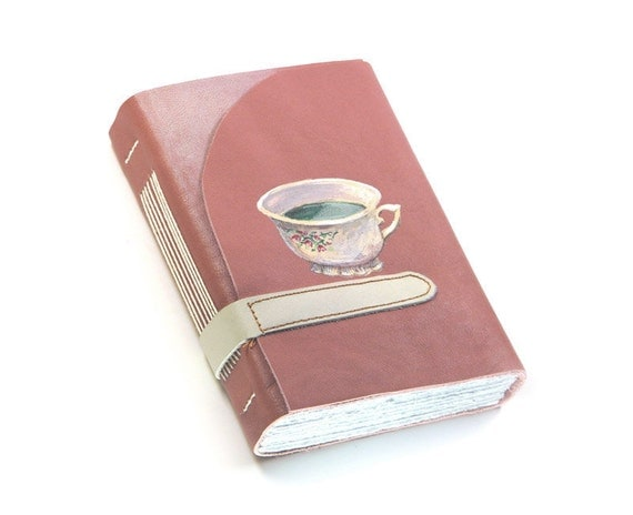 Painted Leather Journal - Dusty Pink Leather Journal
