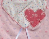 hearts bodysuit for a baby girl