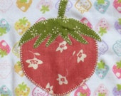 Strawberry babysuit for a baby girl