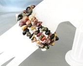 Tourmaline Gemstone Stretchable Stackable Bangle Bracelets (B1213)