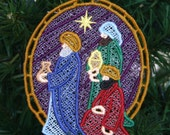 Three Wise Men Nativity Lace