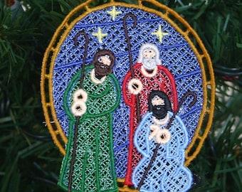 Shepherds in the Field Nativity Lace