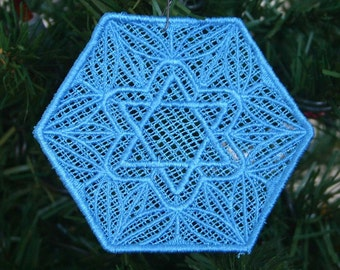 Hanukkah Star Hexagon Lace
