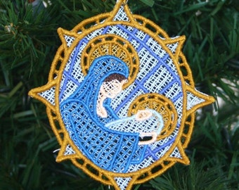 Mary and Child Nativity Lace