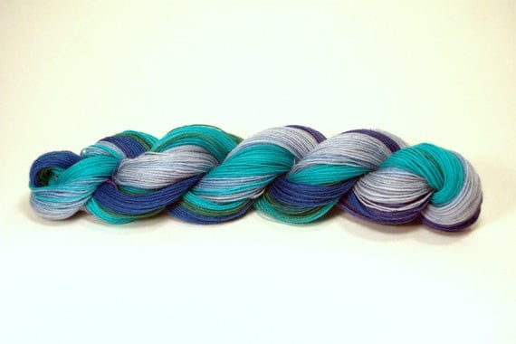 Superwash Sock Yarn Hand Dyed - Forget Me Not
