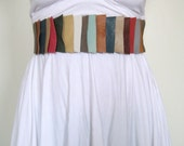 tiered elastic belt in multi colors