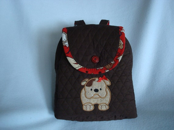 Child's Backpack in Puppy Love