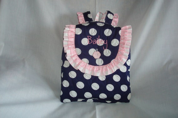 Child's Backpack in Bailey's Bag - Navy and White