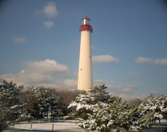 Cape May Lighthouse, Winter - 8x10 Fine Art Photography Print