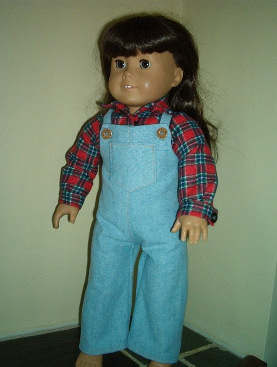 Overalls and shirt for 18 inch doll