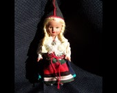 Vintage Souvenir Doll from Sweden