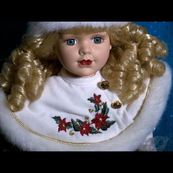 Christmas Porcelain Collector Doll