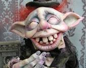 OOAK Gail Lackey Ghost Goblin Fairy Elf Halloween Mourning Doll