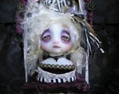 OOAK Memento Mori Theater Bust Doll Victorian Gothic Ghost Girl Lackey
