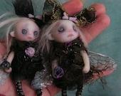 OOAK Doll Fairy Ghost Halloween Victorian Gothic Miniature