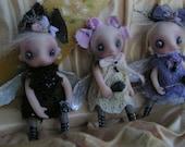 OOAK Ghost Fairy Halloween Victorian Gail Lackey Doll