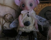 OOAK Gothic Ghost Fairy Halloween Fantasy Victorian Gail Lackey Doll