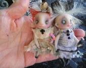OOAK Ghost Gothic Miniature Fairy Halloween Doll Gail Lackey Ghostie