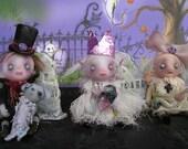 OOAK Ghost Doll Princess Fairy Miniature Crown Gail Lackey Ghostie
