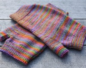 Warm woolly winter mittens