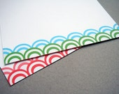 12 Personalized Wave Note Cards