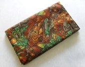 2012 Reusable Pocket Calendar Cover - Abstract Woods Green and Brown - Calendar Included