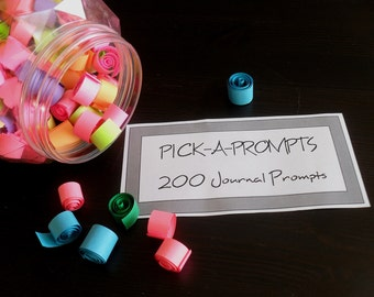 Pick a Prompts - 200 Journal Prompts - PDF Instant Download
