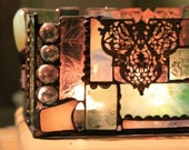 Stained Glass Votive Holder with a Victorian Flair