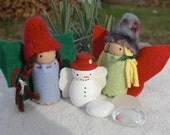 Christmas Fairies and a Snow Fairy