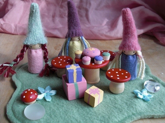 Gnome Birthday Party Playset