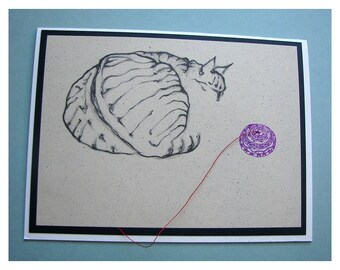 Unique Cat Card Number One