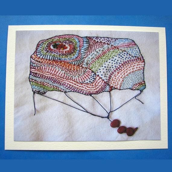 Geology Balloon Blank Greeting Card