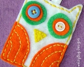 Boo Whoo - Felt hand sewn original owl ornament