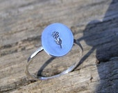 A Flower That Lasts Forever, Sterling Silver Slim Ring