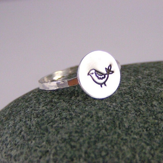 Sterling Silver Little Bird Ring...Her Name Is Paprika