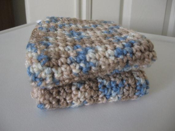 Crochet Wash Cloths Set Of Two Desert Sand